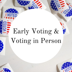 Go to early voting and voting in person.