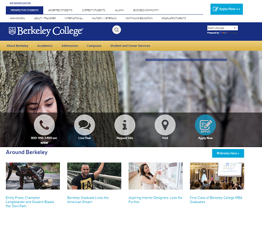 Berkeley College homepage
