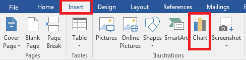 screenshot of Insert ribbon in Microsoft Word