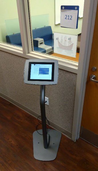 Tablet interface outside a group study room