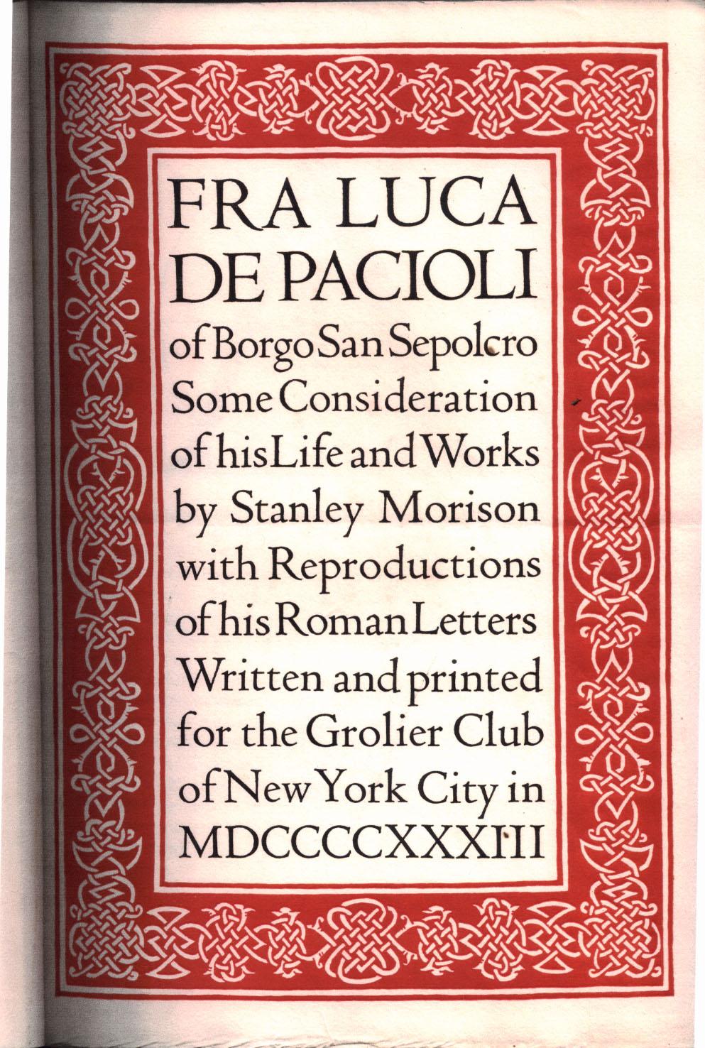Fra Luca de Pacioli