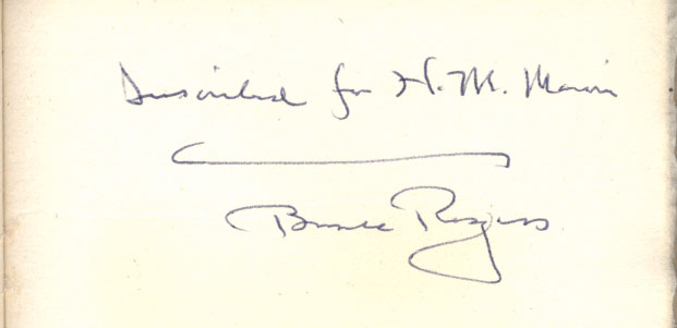 Inscription to Dr. Marvin