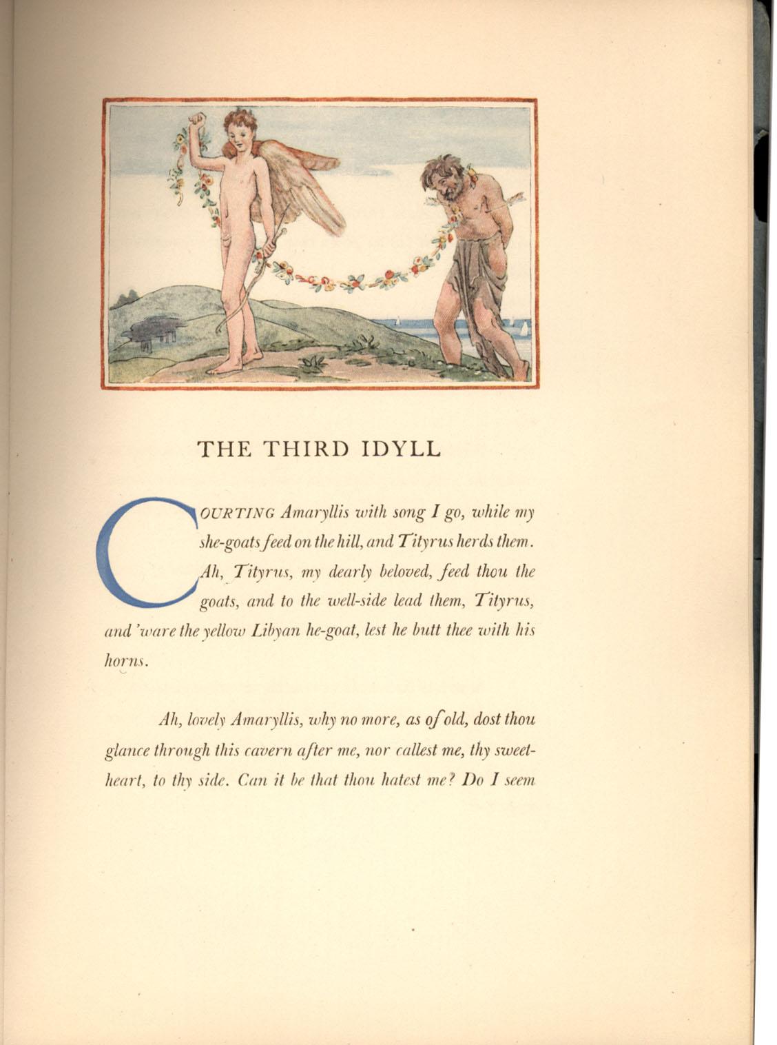 The Third Idyll of Theocritus