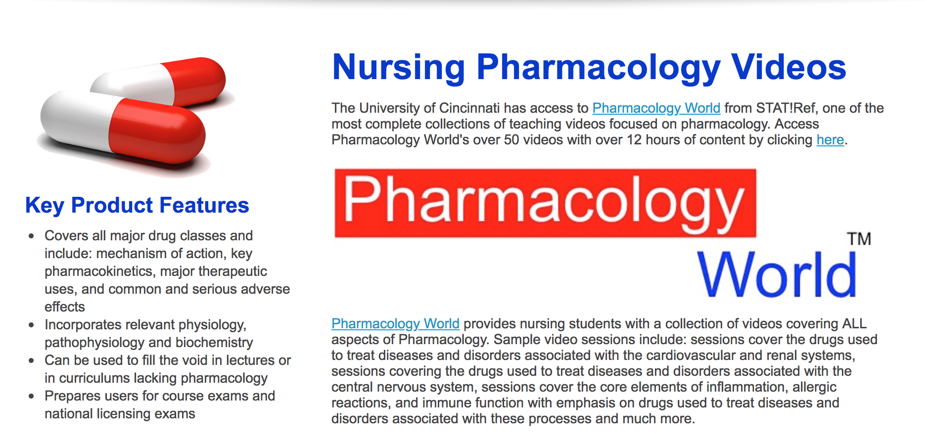 Pharmacology World for Nurses