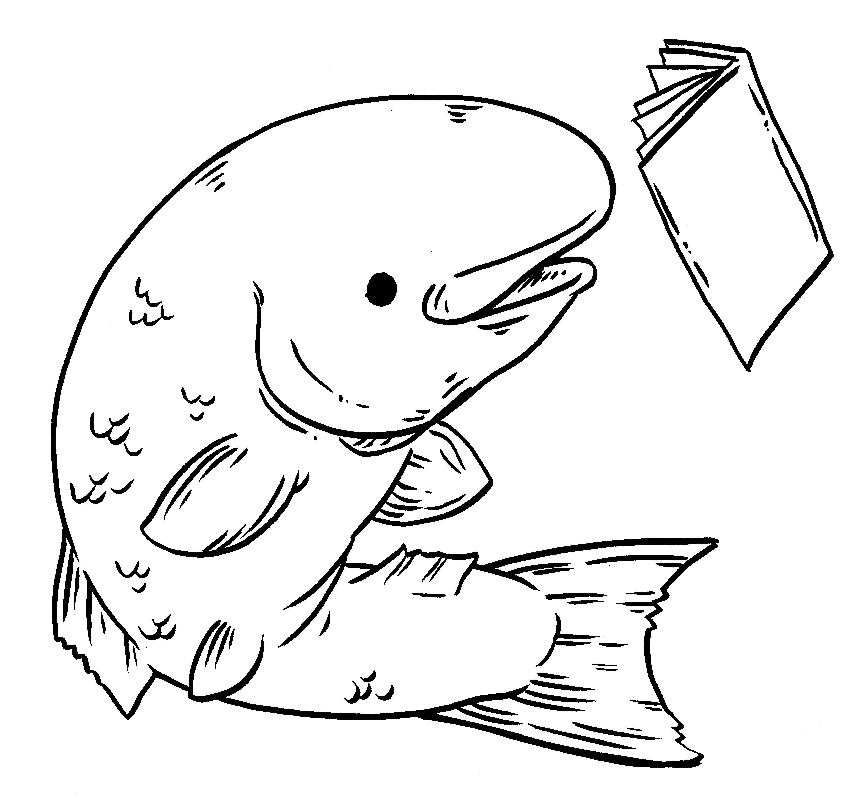 salmon coloring sheet