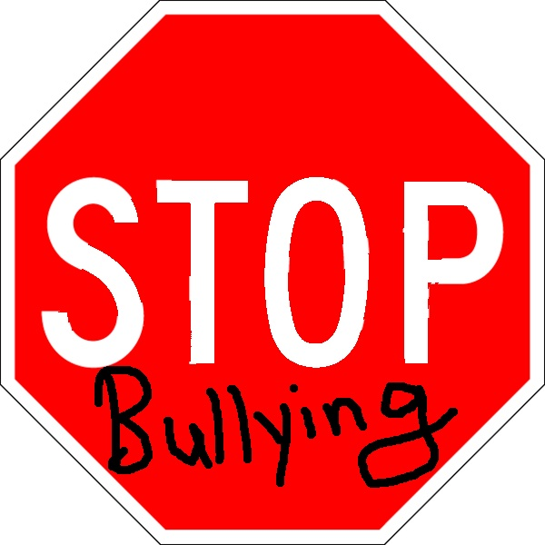 "A stop sign with the words ""stop bullying."""