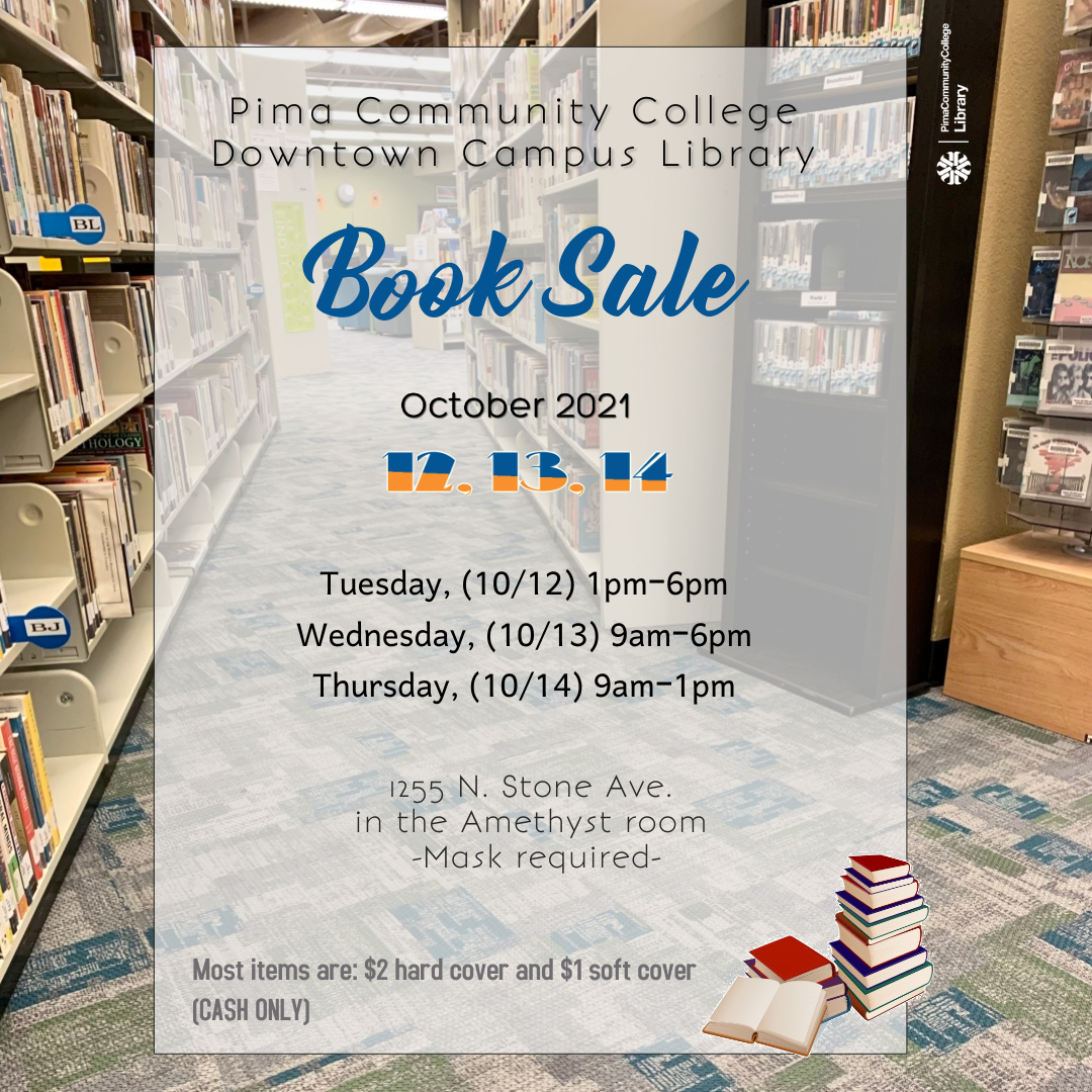 DC Book sale Oct 12 1-6pm, Oct 13 9am-6pm, Oct 14 9am-1pm. Amethyst Room.
