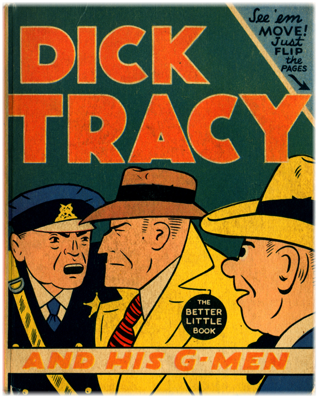 A 1941 issue of Dick Tracy and His G-Men shows the square-jawed Dick Tracy and two police officers