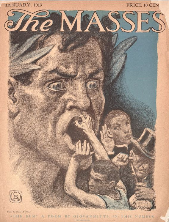 January 1913 cover of the socialist magazine The Masses