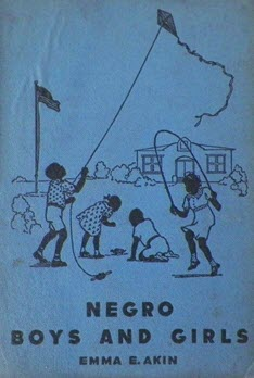 "The cover of ""Negro Boys and Girls"" has an illustration of children playing in a school yard."