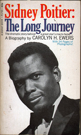 Cover for the 1969 biography, Sidney Poitier: The Long Journey.