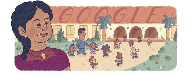google doodle showing Felicitaz Mendez