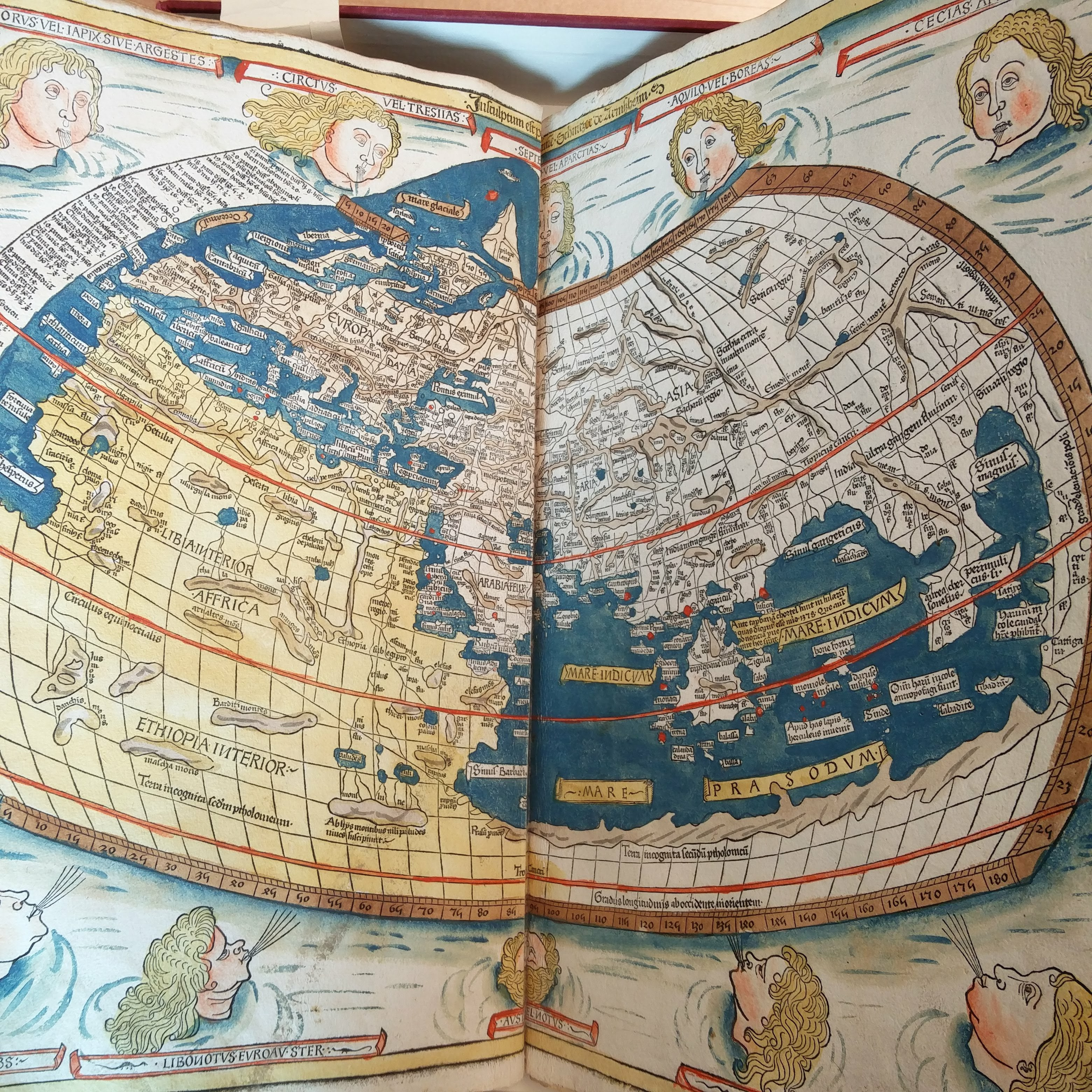 Ptolemaic map of the world, 1482
