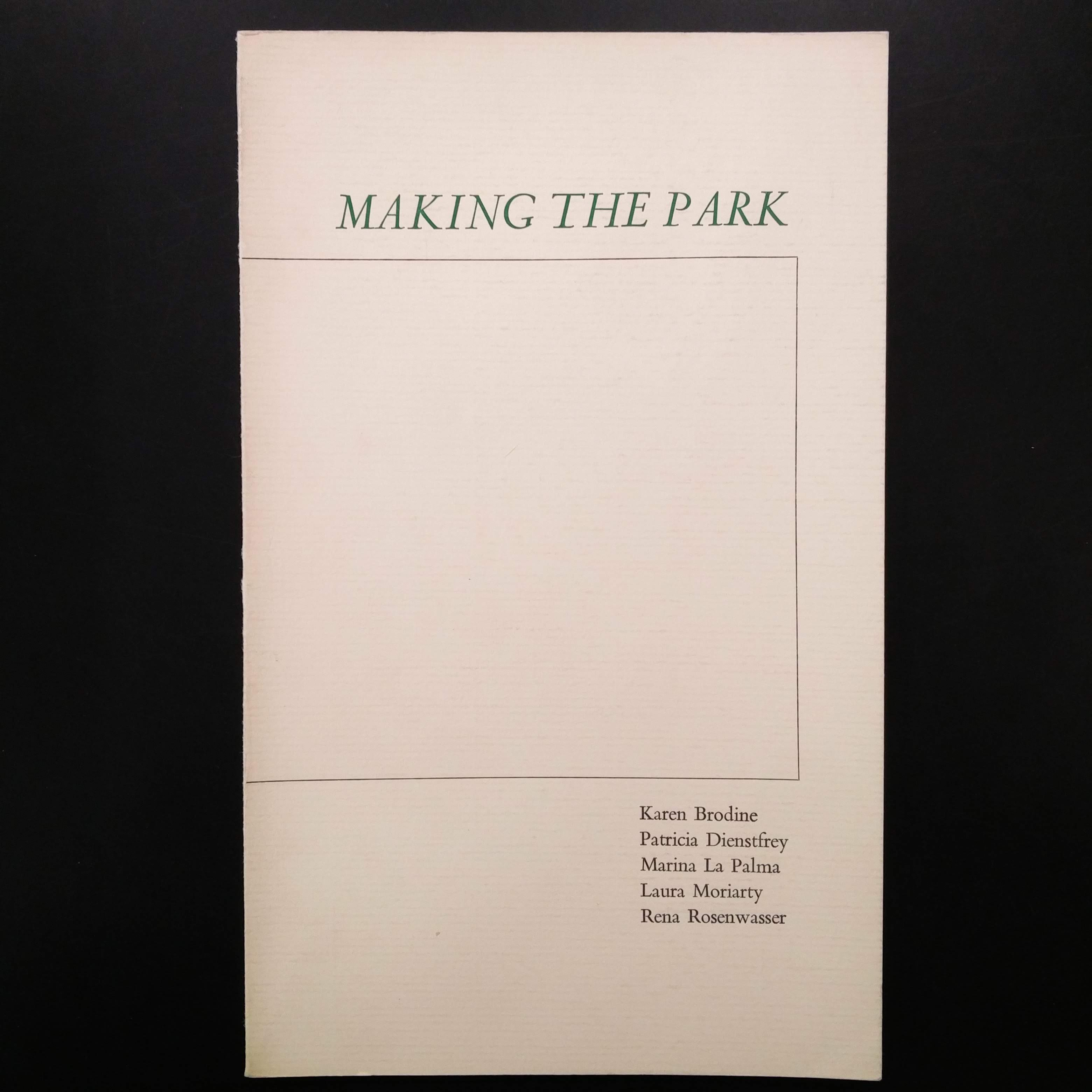 Making the Park cover