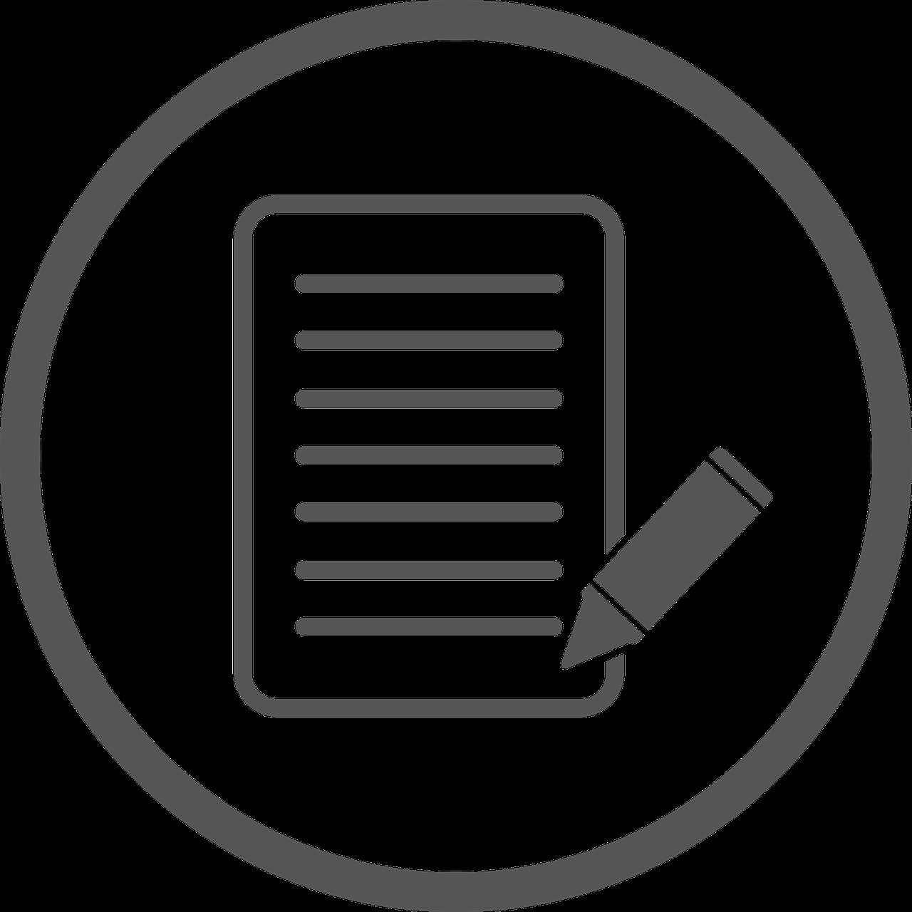 Icon representing writing