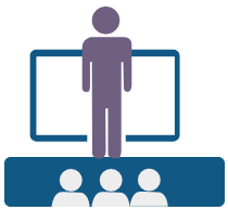 Icon image of person teaching class