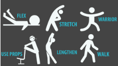 Images of stretching exercises.
