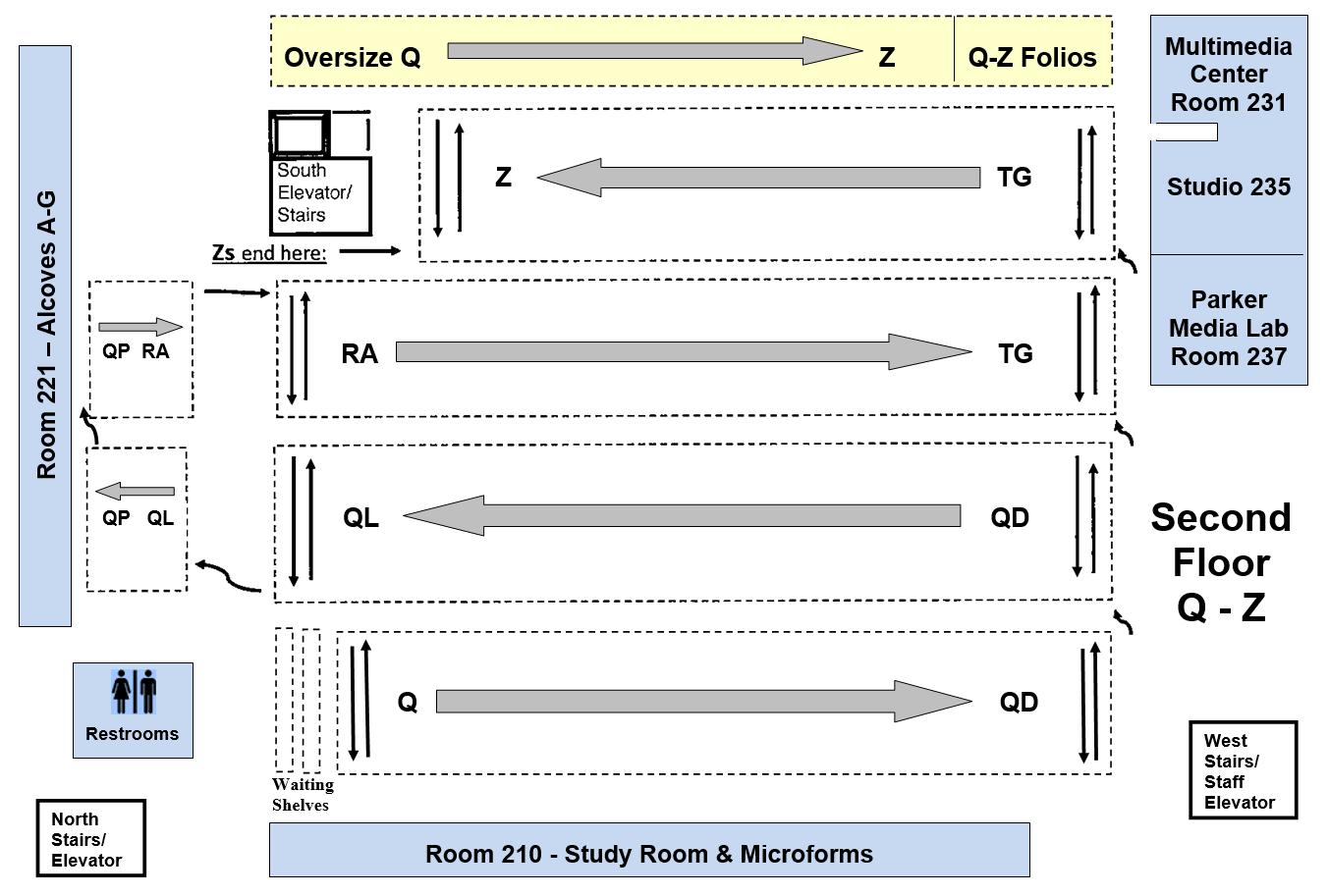 Floor map of level 2