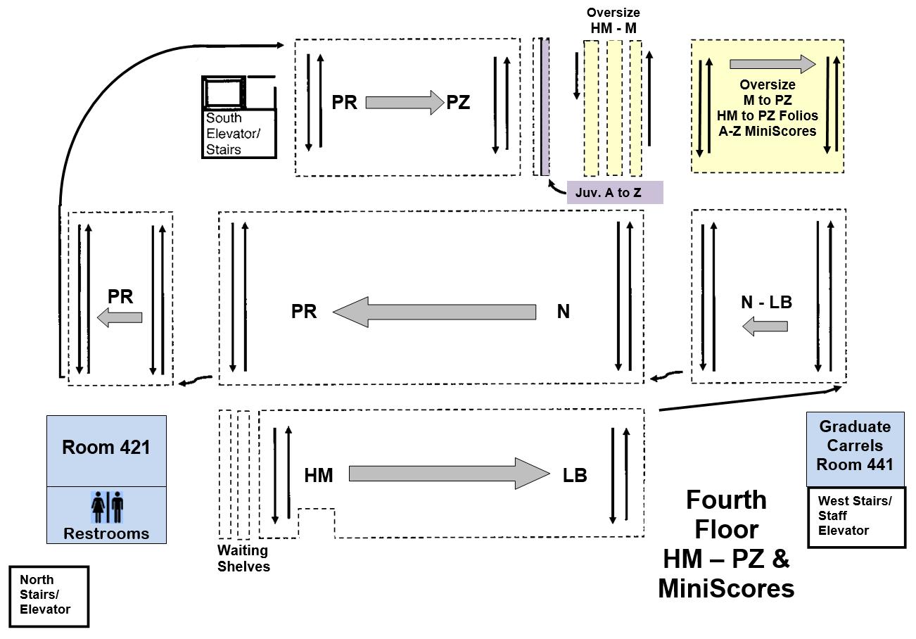 Floor map of level 4.