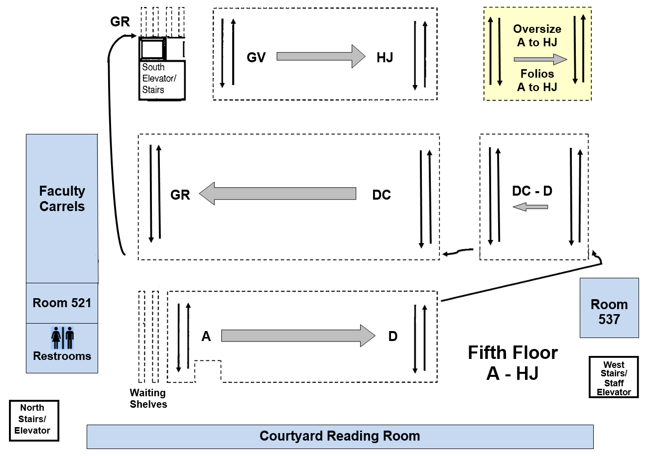 Floor map of level 5
