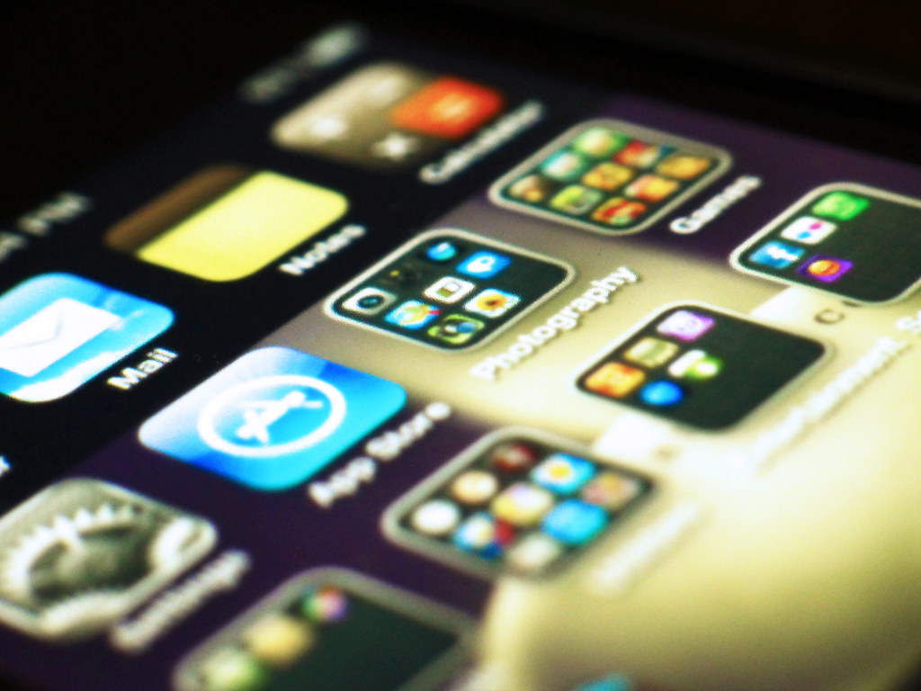 apps displayed on a phone