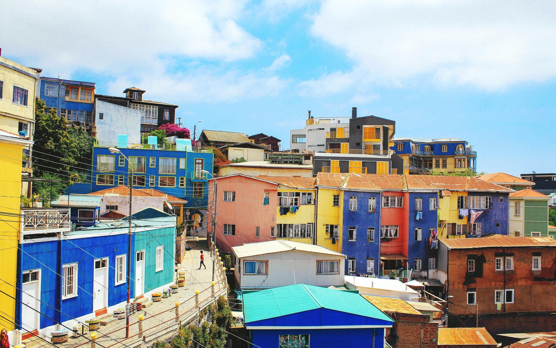 Photo of housing in Valparaíso, Chile