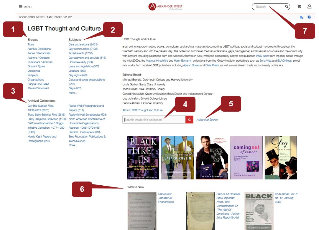 Searching the LGBT Thought and Culture Collection
