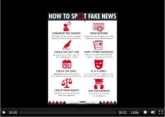 thumbnail of how to spot fake news video