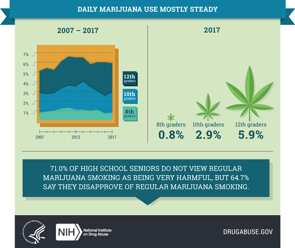Daily Marijuana Use Mostly Steady