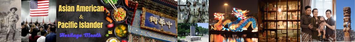 A montage of AAPI heritage celebration images