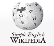 Screenshot of Simple English Wikipedia homepage