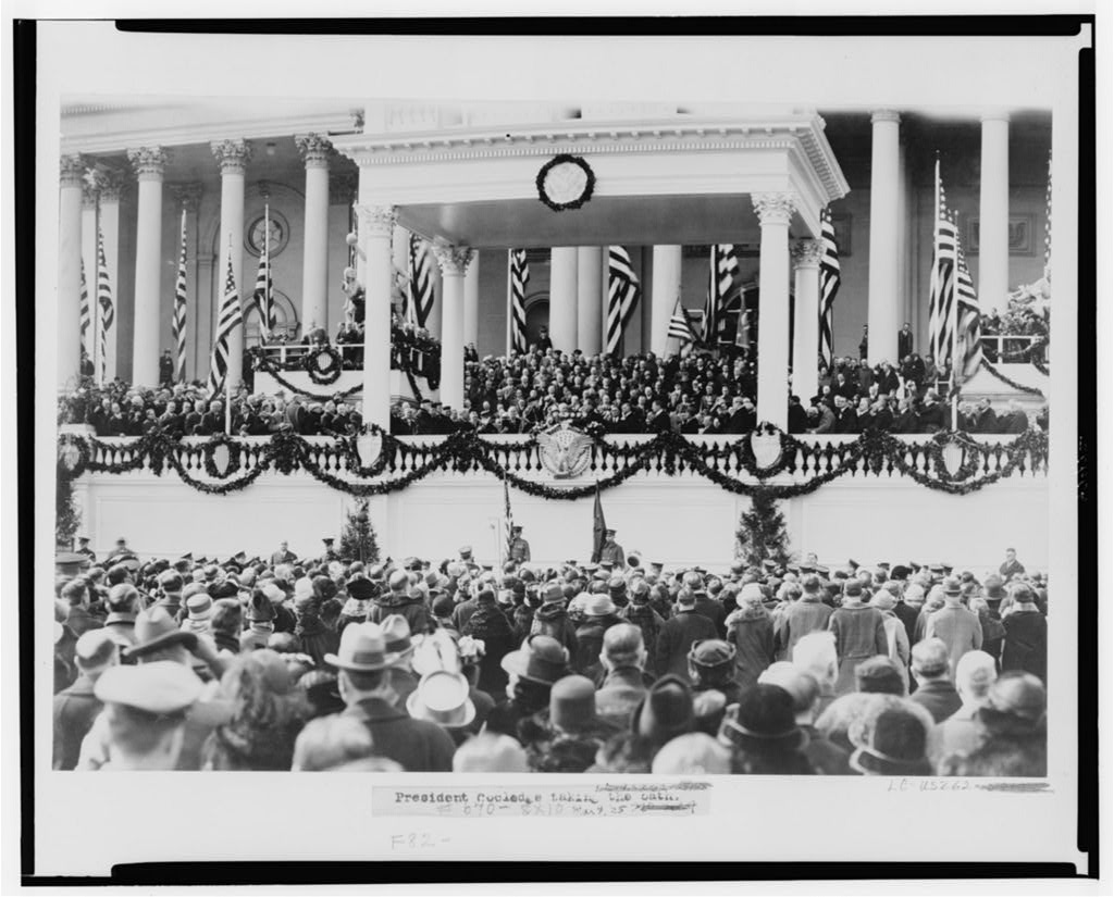 Coolidge Inauguration