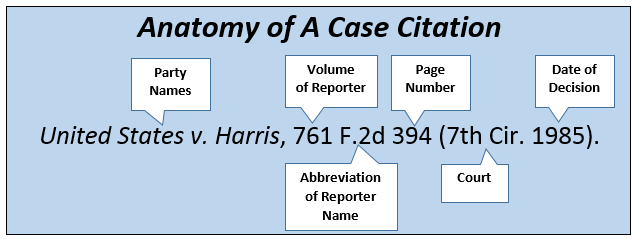 Anatomy of a Case Citation