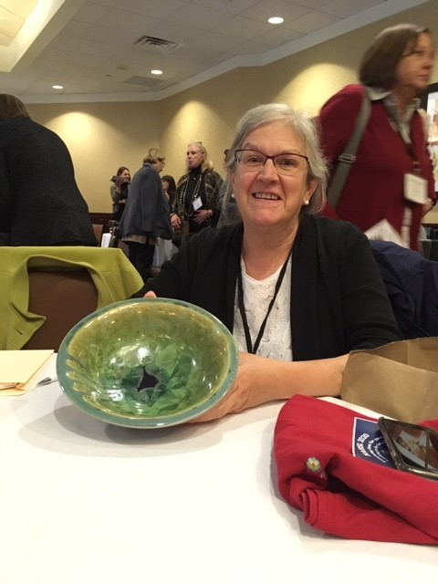 Jeannine with bowl