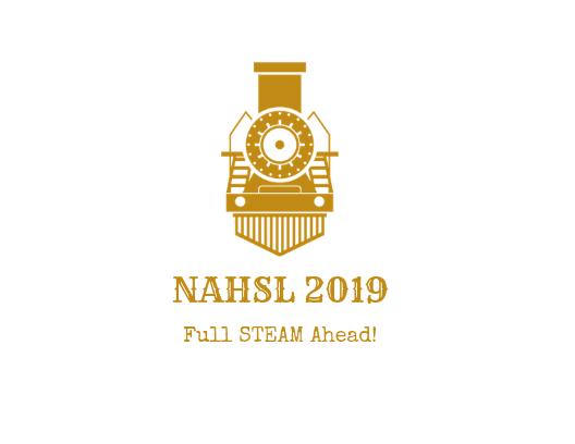 NAHSL 2019 train logo. Full STEAM Ahead!