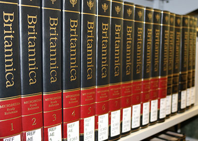 Encyclopedias in Barber Library
