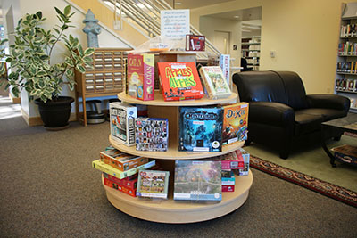 Board games in the West Wing of Barber Library