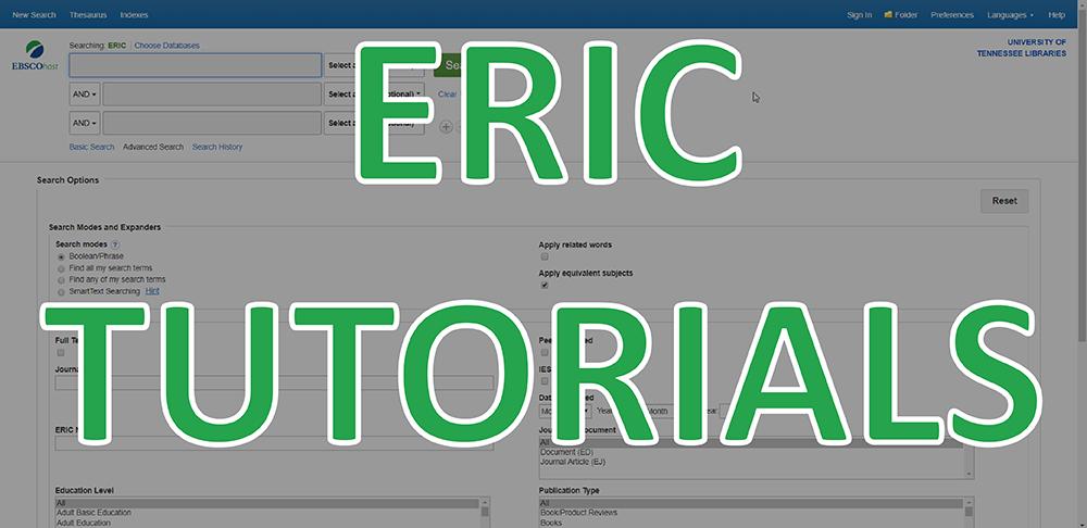 ERIC Tutorials