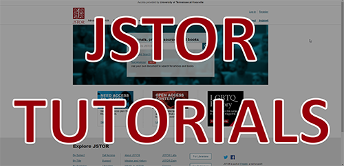 JSTOR Tutorials