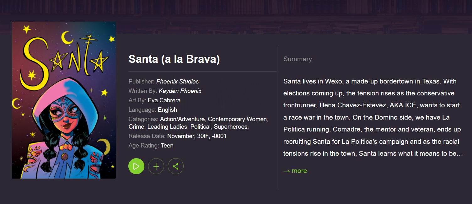 """Cover image of the graphic novel """"Santa a la Brava"""""""