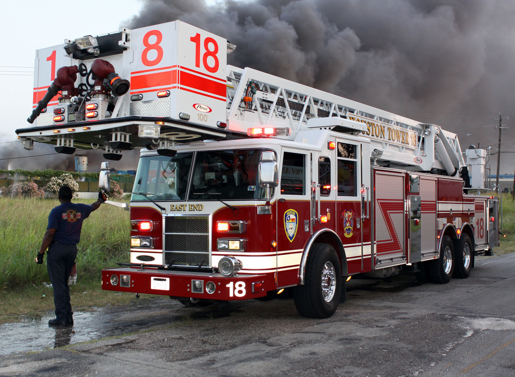 image of a fire ladder truck in front of smoke provided to add color to this web page