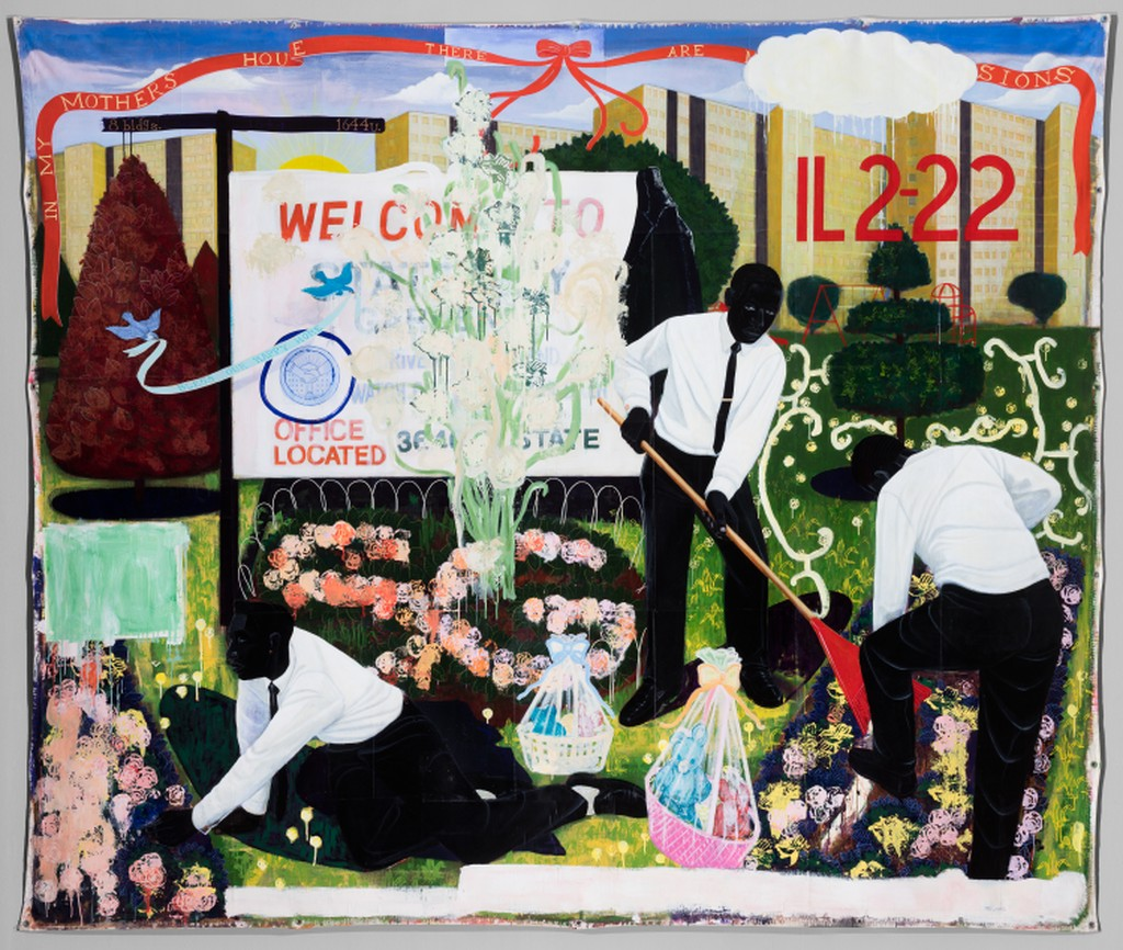 """Image - """"Many Mansions"""" by Kerry James Marshall"""