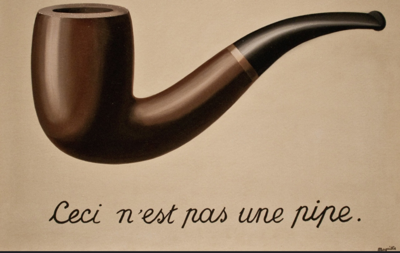 """This is not a pipe""  painting by Rene Magritte"