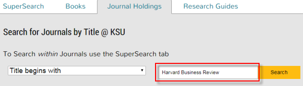 Journal Holdings search