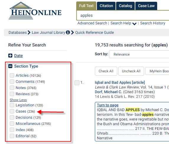 "The ""Section Type"" menu is below the ""Date"" menu."