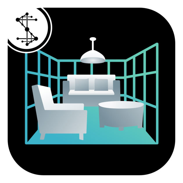 Room Capture's logo, which features a room outlined by a grid.