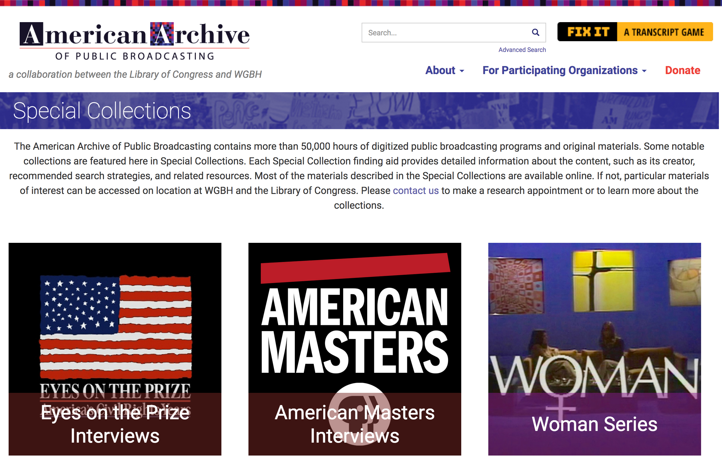 American Archive Special Collections