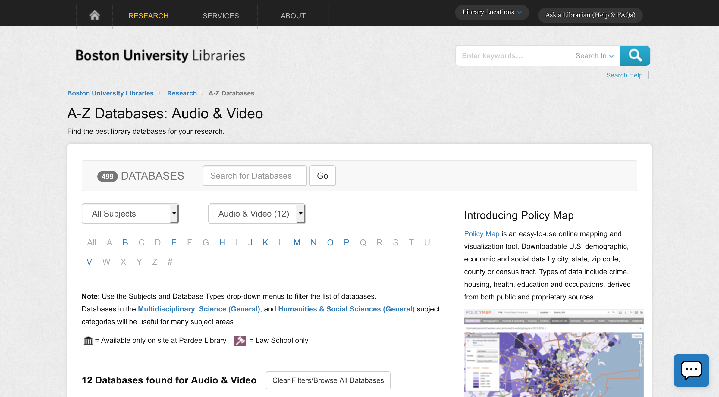 A-Z Databases: Audio & Video
