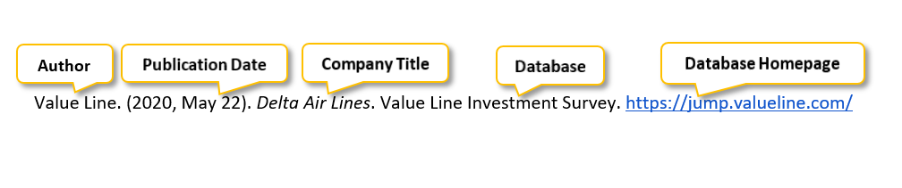 "Value Line period parenthesis 2020 comma May 22 parenthesis period Delta Air Lines period Value Line Investment Survey period <a href= ""https://jump.valueline.com/"" </a>"