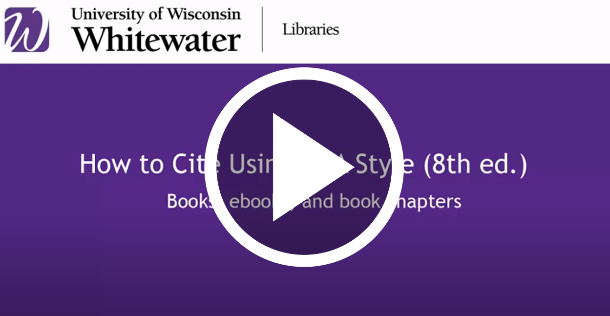 video link to How to cite books using MLA style